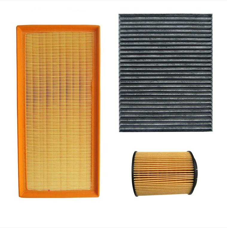 AUTODAB filters for 2002-2006 vw Touareg 3.2 4.2 air filter+oil filter+cabin filter