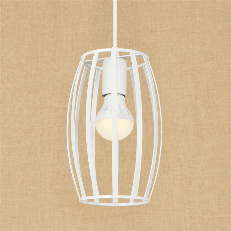 Loft Style Simple Iron Droplight Industrial Vintage LED Pendant Light Fixtures Dining Room Retro Hanging Lamp Indoor Lighting retro loft style iron cage droplight industrial edison vintage pendant lamps dining room hanging light fixtures indoor lighting
