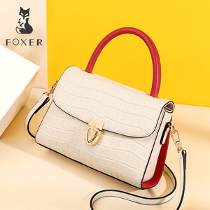 Image 2 - FOXER 2019 New Office Gentlewoman luxury  Shoulder Bags Lady Large Capacity Split Leather high quality Elegant Messenger Bags