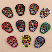 10pcs/lot skull pattern embroidery  Patch for Clothing Iron on Embroidered Sew Applique Cute Patch Fabric Badge Garment