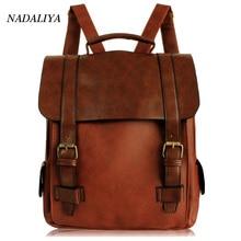 Здесь можно купить   2017 Fashion Women Fashion Backpacks Vintage Leather School Backpack Retro Small Lady Schoolbag Mochila Brown Black Backpack Backpacks