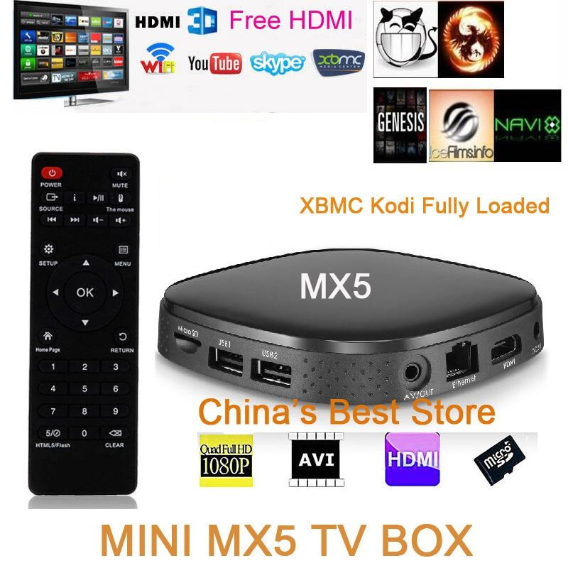 Mini X5 Smart Android TV Box Penta-Core GPU 1G/8G Android 5.1 Quad Core Set-top Box 4K OTT Smart TV XBMC KODI Full HD HDD Player mini dlp projector android 4 4 smart tv box 1gb 8gb kodi xbmc 2 4g