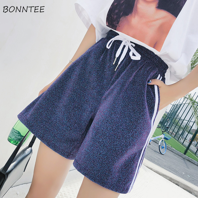 Shorts Women Korean Style Leisure Chic Simple High Quality Womens All-match Summer Loose Elastic Waist Trendy Students 2019 New