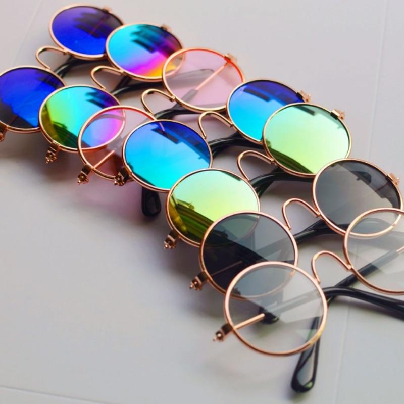 76d29cdbd دمية بارد نظارات الحيوانات الأليفة نظارات دائرية نظارات شمسية ملونة ل Grils  لعبة الصورة Props-