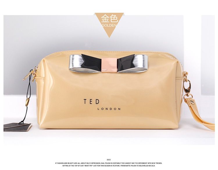 Free Shipping White Printing Cosmetic Bags Pink Ted Erfly Makeup Bag Small Jelly Brand Designer Travel Kit Case In Cases