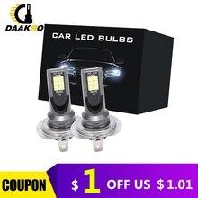2 adet H7 9005 H8 H9 H11 H4 H1 55W 110W 1000LM 2000LM LED araba far dönüşüm küre ampuller ışın 6000K LED alüminyum far
