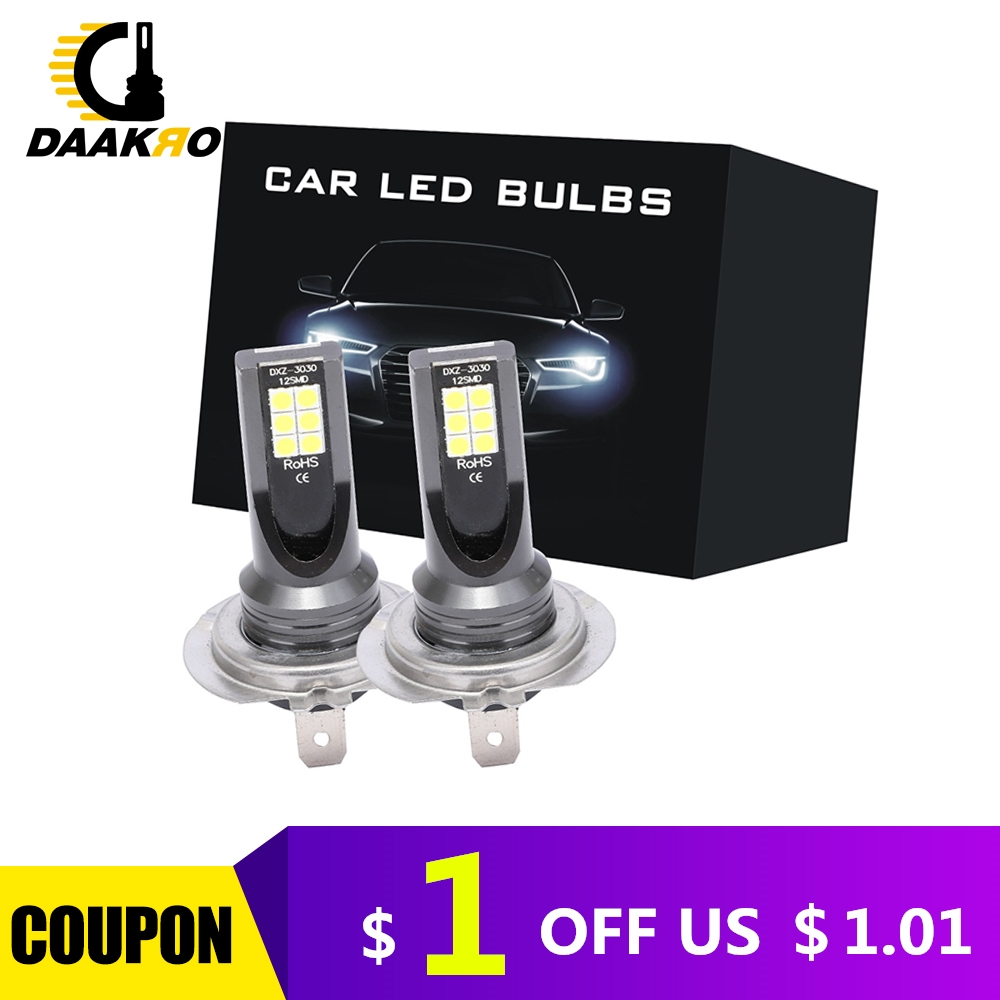 2PCS <font><b>H7</b></font> 9005 H8 H9 H11 H4 H1 55W 110W 1000LM <font><b>2000LM</b></font> LED Car Headlight Conversion Globes Bulbs Beam 6000K LED Aluminum Headlight image
