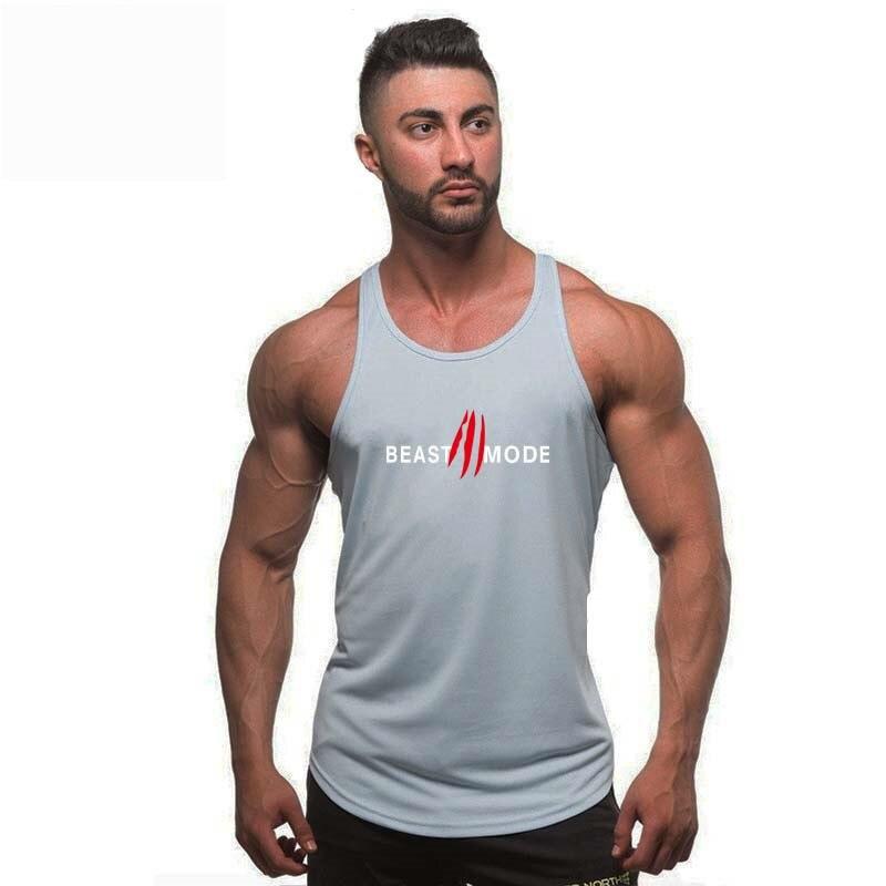 New Fitness   Tank     Top   Men Bodybuilding Stringer Men's Singlets   Tank     Top   Shirts gyms Workout Vest Clothing beast mode