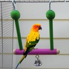 Let's Pet Птица Попугай качели стенд попугай окунь дерево гамак подвесной металлический крючок игрушки для животных