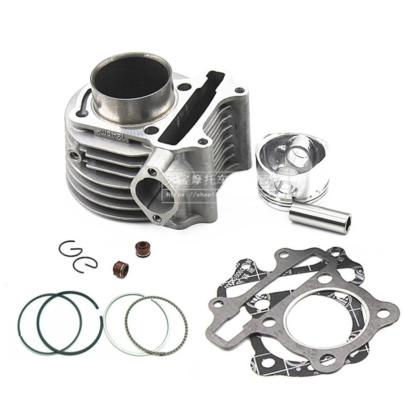 1Set 125cc 52.4mm Big Bore Cylinder Kit For Chinese Moped Scooter GY6 125cc 150cc Motorcycle Cylinder ...