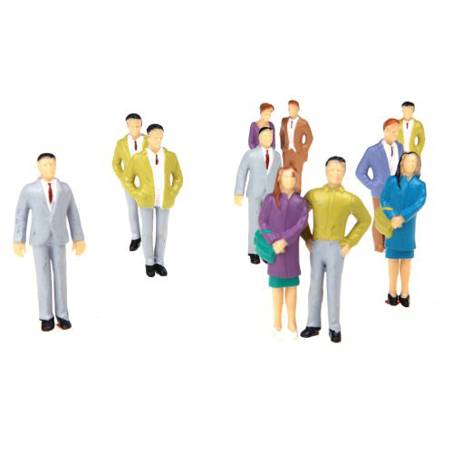 20pcs G Scale 1:25 Mix Painted Model People Train Park Street Passenger Figures