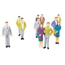 20pcs G Scale 1 25 Mix Painted Model People Train Park Street Passenger Figures