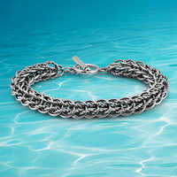 Fashion man jewelry accessories; 925 Thai silver jewelry bracelet, men cool circular hollow out keel bracelet individuality,