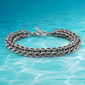 Man fashion & men 925 sterling silver jewelry  link chain men's bracelet new 2014