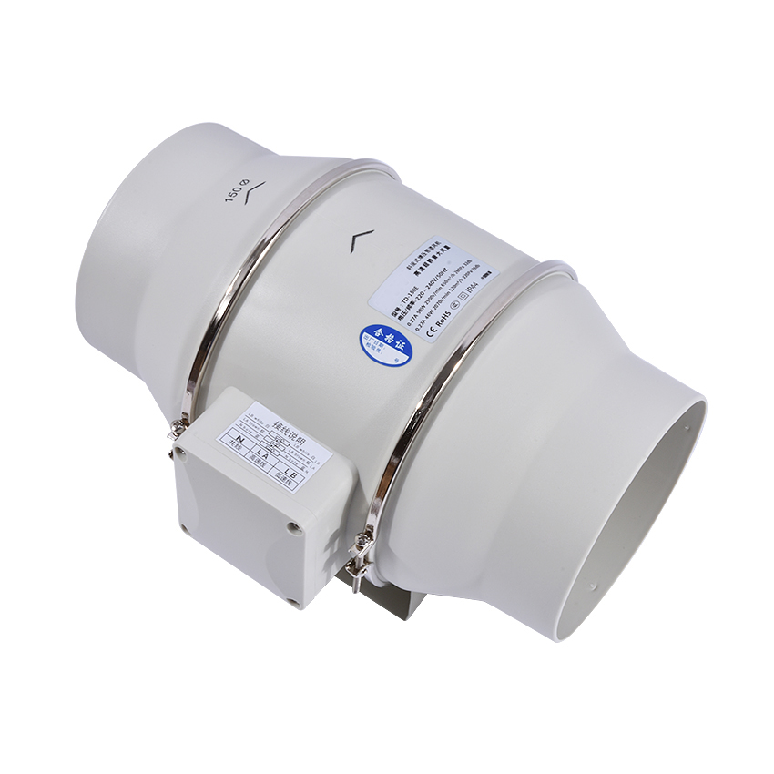 TD-150E 6 Mute bathroom Ventilation Fan Exhaust Air Mixed Flow Inline Ventilators Duct Fan Blower 220v/50Hz mayitr 4 inline ducting fan booster exhaust blower high speed quiet fan exhaust ventilation duct fan 220v 50hz 25w 2800r min