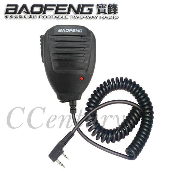 bilder für Original baofeng lautsprecher-mikrofon für tragbare funkgeräte walkie talkie uv-5r uv-5re plus bf-888s uv-b5 uv-b6 gt-3 mark