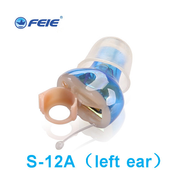 Mini Digital ITE Hearing Aids for Profound Severe Loss Wireless High Super Power Sound Amplifiers for the Elderly S 12A