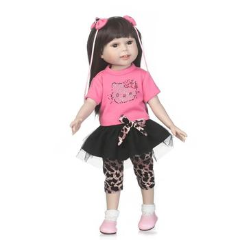 18 inch  American princess doll Full Vinyl Body Silicone Baby Doll Toys for Girls Realistic  Reborn Toddler babies Doll gift