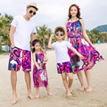Family Clothing Mother Daughter Dresses 2017 Summer Family Matching Outfits Father Son T-Shirt Pants Cotton Printer Family Look