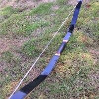 Promo 25 60 lbs de arco negro de pavo con LaminatingBow hecho a mano para caza