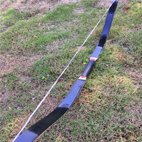25 60LBS Of Black Turkey Bow With Handmade LaminatingBow For Hunting Shooting