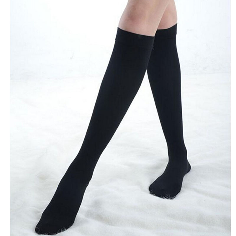 3b397c59a9a Good Quality Women Lower Knee Socks Thigh High Stockings Opaque Warm  Japanese School Student Black Stripe Long Sock Hot Sale-in Stockings from  Underwear ...