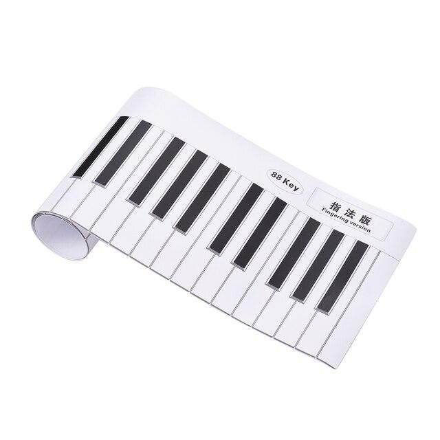 Piano Practice Chart Fingering Version 88 Keys Keyboard Fingering