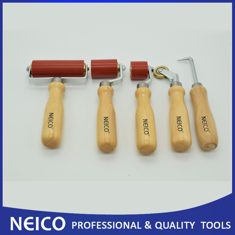 5PCS Single Ply Roofing Installing Tools Kit,6mm Brass Penny Roller,Seam Tester,Silicone Seam Rollers