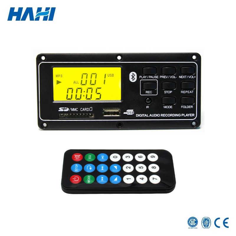12 В LCD Bluetooth MP3 декодер плата WAV WMA декодирование MP3 плеер аудио модуль Поддержка FM радио AUX USB с папкой