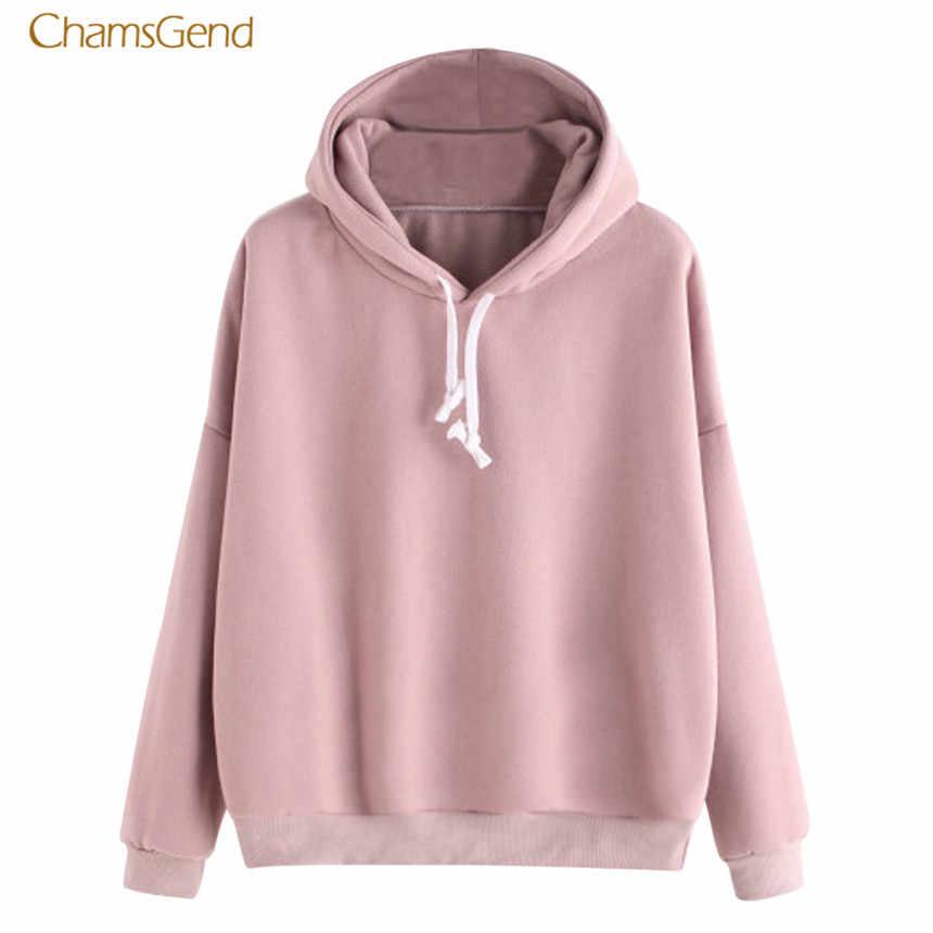 CHAMSGEND 2018 Hoodies Women Hoodies Winter Warm Women Hoodie Sweatshirts Womens Plus Size Long Sleeve Hooded Sweatshirt