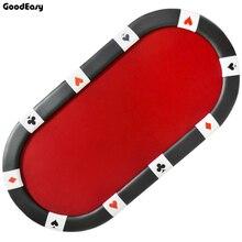 213*107*76cm Oval Casino Foldable Poker Table Texas Holdu0027em Baccarat Three  Fold With Waterproof Fabric Table Top + Tablel Feet
