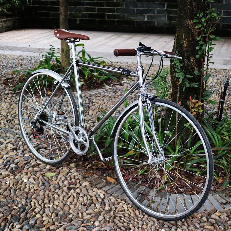 ENVÍO LIBRE retro bicicleta de $ number velocidades de acero al carbono camino d