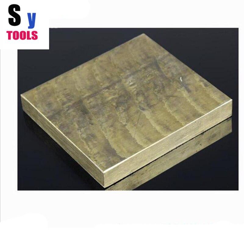 Knife DIY material bronze block plate 50*50*10mm , accept cutting other size ткань 7pcs 50 50 telas diy tecido mmj1216003