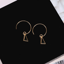 Korean simple geometric triangle earrings suitable for women pendant small personality wholesale E30