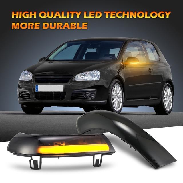 2 pieces Side Mirror indicator dynamic blinker LED Turn Signal Light For VW GOLF 5 GTI V MK5 Jetta Passat B5.5 B6 Sharan Superb