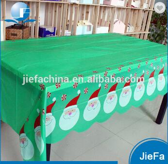 Customize Christmas Table Cloth PE/Coated Table Cover Party Printed Christmas Cloth Tablecloths