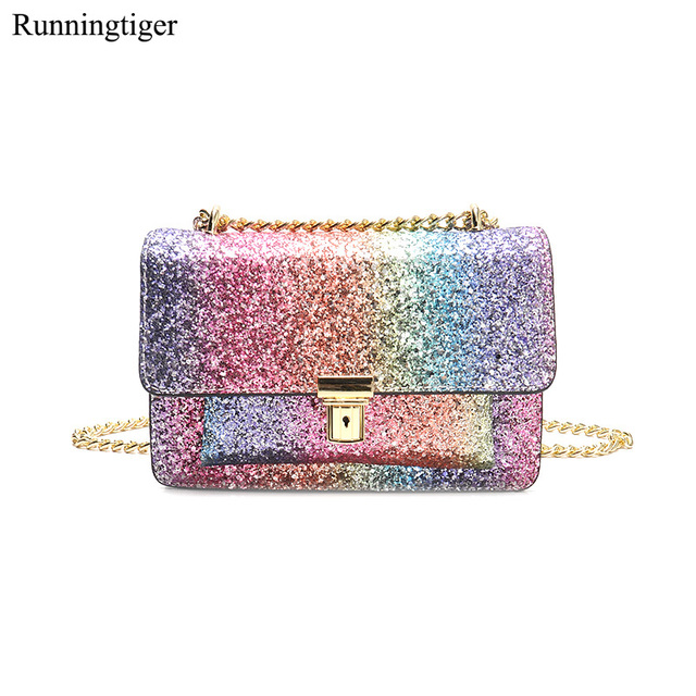 8e280b2c2ddf Brand New Luxury Handbags Women Bags Designe Chain Bag Women Glitter Sequins  Party Bag Women Sequins Chain Crossbody Bags