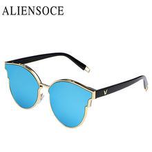 c304cc190946d De alta Qualidade Da Moda Coreana V Gases de Marca Óculos De Sol Das  Mulheres Retro Rodada óculos de Sol UV400 Óculos De Sol Ocu.