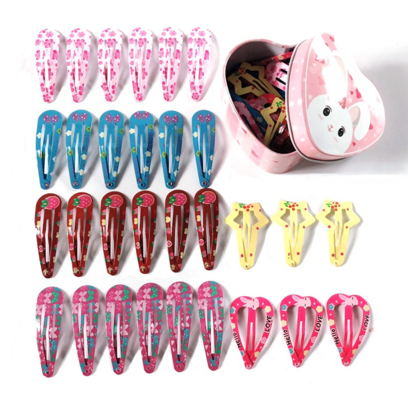 30pcs Baby Girls HairClips For Hair Clip Pins Hairpins Color Metal For Baby Girl Children Girls Accessories