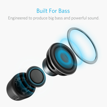 Anker SoundCore mini, Super-Portable Bluetooth Speaker with 15-Hour Playtime, 66-Foot Bluetooth Range, Enhanced Bass Microphone 1