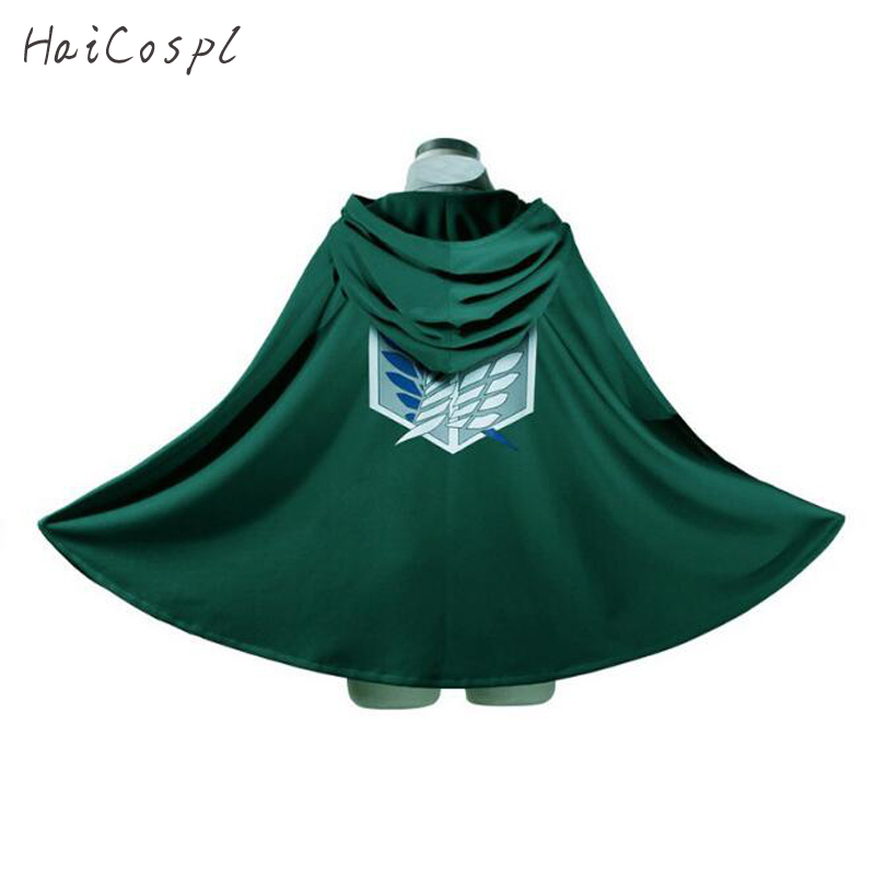 Attack On Titan Costume Green Cloak Japanese Anime Cosplay  Shingeki No Kyojin Hoodie Eren Levi Mikasa Cloak Scout Legion Coat