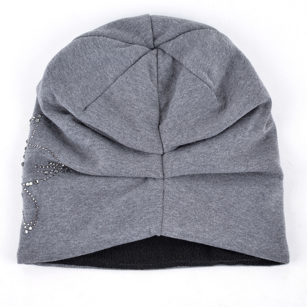 Female Beanie Bonnet Autumn And Winter Caps Hip-hop Cap Flower Rhinestone Hats For Women Beanies Balaclava Womens Skullies 2