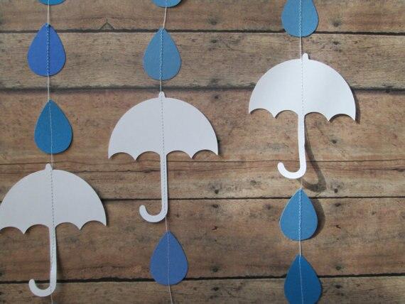 Gota De Lluvia Y Guirnalda De Paraguas Guirnaldas Verticales Paraguas Blancos Gotas De Lluvia De Azules Guirnalda Duchas De Novia Bebé Ducha Shower Shower Umbrella Umbrellaumbrella White Aliexpress