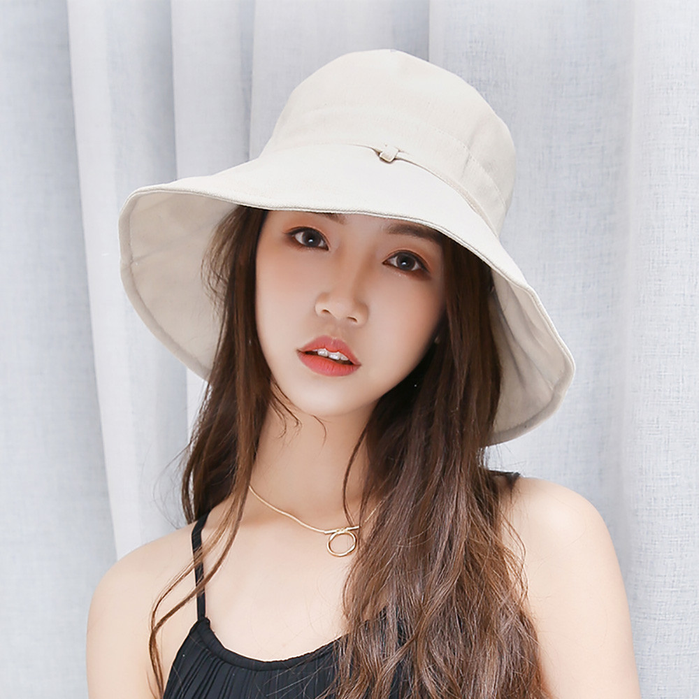Fashion Women Foldable Outdoor Leisure Collapsible Casual Shade Bow Sun Protection Hat Ladies
