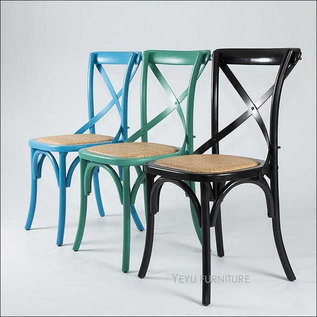 Diseño moderno estilo americano de madera sólida Cruz clásica Silla ...