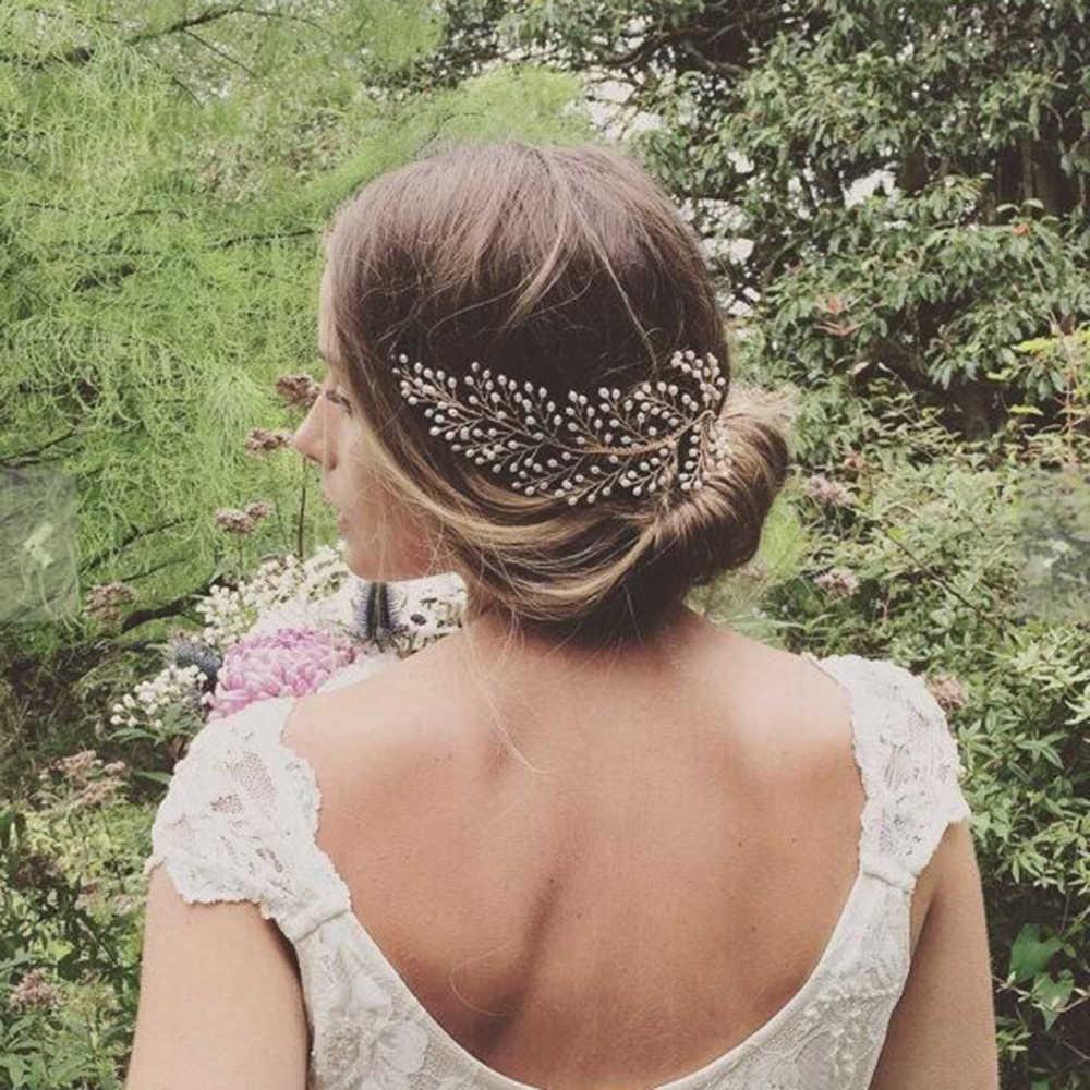 AINAMEISI 20 סגנון אופנה פרל כלה שיער מסרק קריסטל חתונת שיער בעבודת יד אביזרי שיער תכשיטי סרטי ראש לנשים