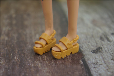 2019 New High Quality 1 Pair Doll Shoes 1/6 Fashion Black Sandals Doll Slipper Boots For Barbie Doll Shoes 1/6 Original