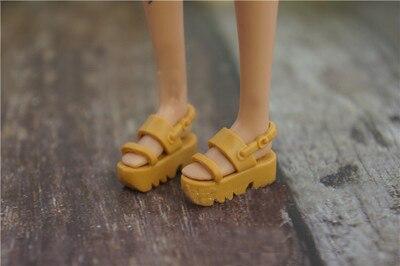 2019 Nouvelle Haute Qualité 1 Paire De Chaussures De Poupée 1/6 Mode Sandales Noires Poupée Pantoufle Bottes Pour Barbie Poupée Chaussures 1/6 Original Bon GoûT