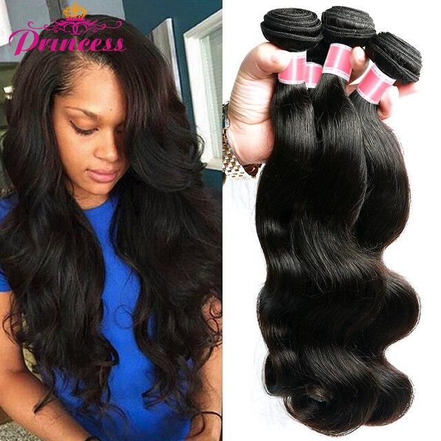 Beautiful Princess Hair 4 Bundles Body Wave 8-28 inch Brazilian Hair Weave Bundles 100% Human Hair Bundles Natural Color
