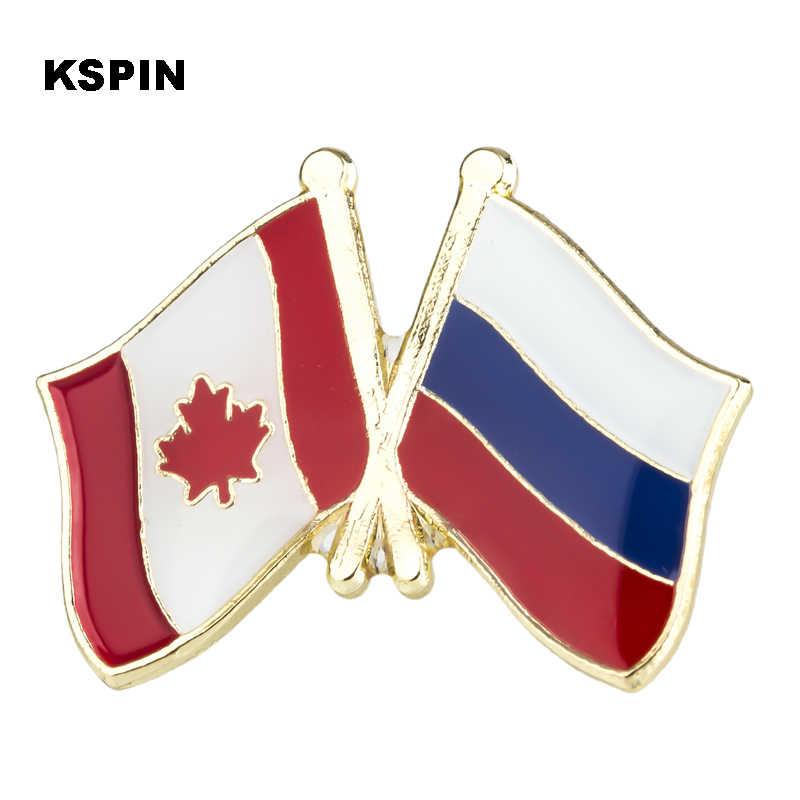 كندا الصداقة العلم شارات معدنية لحقيبة الظهر شارات قبعة رمز العسكرية/قبعة بروش المجوهرات